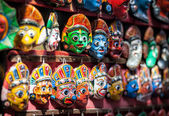 Souvenir masks at Nepal market  — Stock Photo