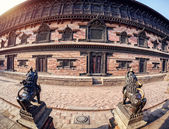 Palace on Durbar square in Bhaktapur  — Stock Photo