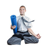 Time for yoga — Stock Photo