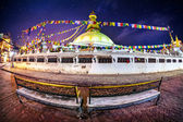 Bodhnath stupa at night — Stock Photo