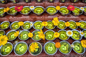 Offerings at festival near Bodhnath stupa — Stock Photo