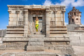Yoga in Hampi ruins — Stock Photo