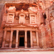 Al Khazneh - the treasury of Petra ancient city, Jordan — Stock Photo #15410685