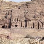 View of the facade of the Monastery in Petra, Jordan — Stock Photo #15410723