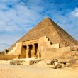 View of one of the Great Pyramids in Giza, Egypt — Stock Photo