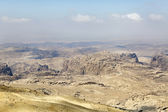 Panoramic view of desert and mountains near Petra ancient city, Jordan — Stock Photo