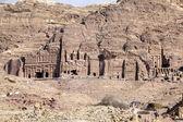 View of the facade of the Monastery in Petra, Jordan — Stock Photo
