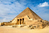 View of one of the Great Pyramids in Giza, Egypt — Stockfoto