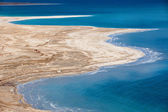 Aerial view of Dead Sea coastline — Stock Photo