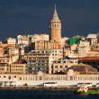 Panoramic view of Istanbul city — Stock Photo
