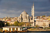 View of Istanbul city and New Mosque — Stock Photo