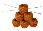 Six spools of thread — Stock Photo