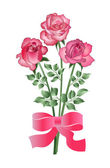 Bouquet of three roses — Stock Vector