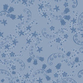Pattern of blue flowers — Vector de stock
