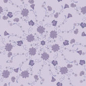 Pattern of lilac flowers — Stock Vector