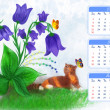 Calendar Summer 2013 — Stock Photo