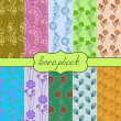 Set of seamless of ten patterns for scrapbook — Stock Vector #26844233