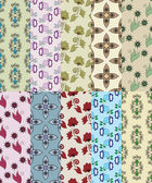 Set of seamless simple patterns for scrapbooking — Stock vektor