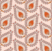 Orange pattern made of small leaves — Stock Vector