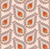 Oranje patroon gemaakt van kleine bladeren — Stockvector