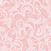 Ornate seamless pattern on pink background — Stock Vector