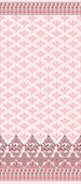 Pink seamless pattern with wide border — Stockvector