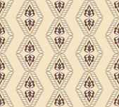 Diamond-shaped pattern on a beige background — Cтоковый вектор
