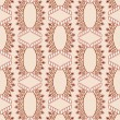 Постер, плакат: Pattern with figured ovals and diamonds