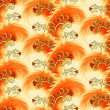 Stock Vector: Seamless orange pattern imitating plumelets