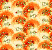 Seamless orange pattern imitating plumelets — Stock Vector