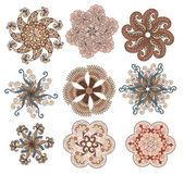 Serie di nove fiori — Vettoriale Stock