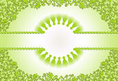 Figured green frame on a light green background  — Foto de Stock