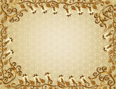 Frame with gold embossed pattern — Stock Photo