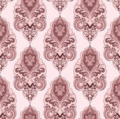 Damascus pattern in pink tones on a light background — Stockvektor