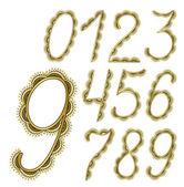 はがきのデザインの装飾的な数字 — ストックベクタ