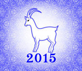 Goat on a light purple background — Stock Vector