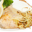 Royalty-Free Stock Photo: Carp stewed with sour cream and fried onions