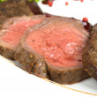 Stock Photo: Medium fried Roast beef