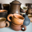 Clay pottery ceramics - Stockfoto