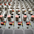 Stock Photo: Sound mixer console