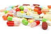 Pills isolated on white background — Stock fotografie