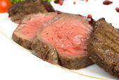 Medium fried Roast beef — Stock Photo