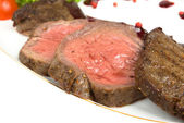 Medium fried Roast beef — Stock Photo