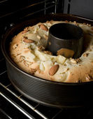 Pie in the oven — Stock Photo