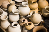 Pots before firing — Stock Photo