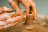 Potter under the work — Stock Photo