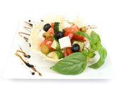 Salad isolated on white — Stock Photo