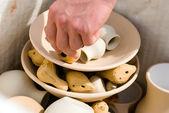 Clay pottery ceramics — Stock Photo