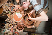Potter at work — Stock Photo