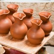 Pots in workshop — Stock Photo